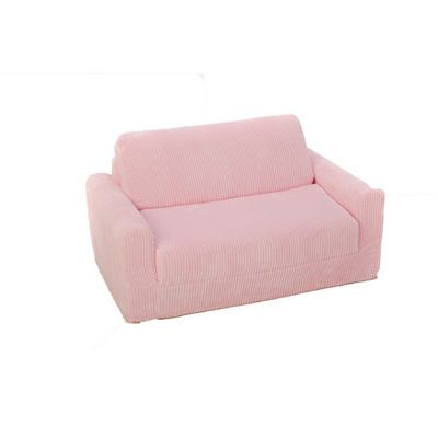 Fun Furnishings Pink Chenille Sofa Sleeper With Pillows FF-11302