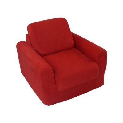 Fun Furnishings Red Micro Suede Chair Sleeper Ff 20232 Cozydays