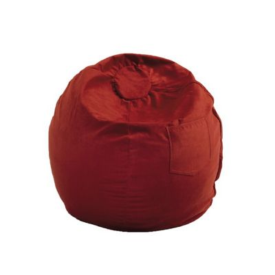 Fun Furnishings Red Micro Suede Large Beanbag FF-41232