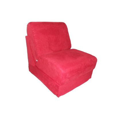 Fun Furnishings Red Micro Suede Teen Chair FF-50232