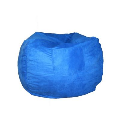 Fun Furnishings Royal Blue Micro Suede Small Beanbag FF-30207