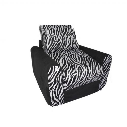 Fun Furnishings Black Zebra Chair Sleeper FF-20209