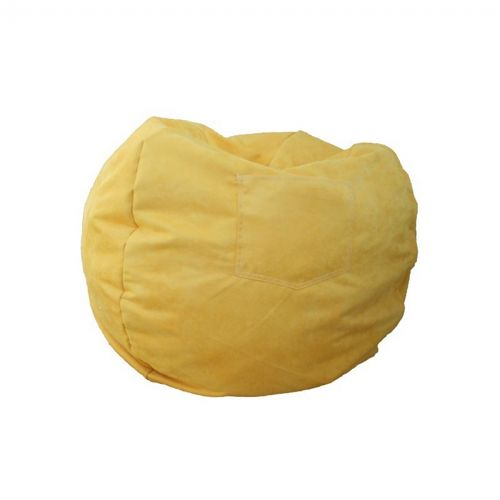 Fun Furnishings Canary Yellow Micro Suede Small Beanbag FF-30203