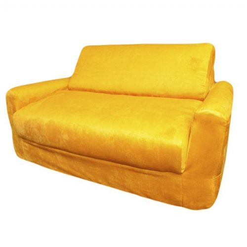 Fun Furnishings Canary Yellow Micro Suede Sofa Sleeper FF-10203
