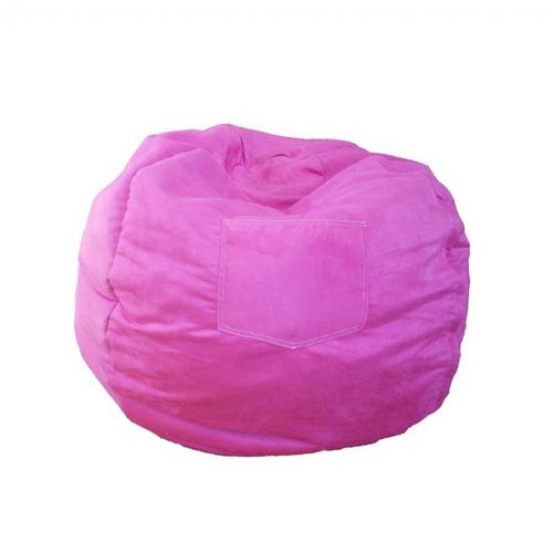 Fun Furnishings Fuchsia Micro Suede Small Beanbag FF-30204