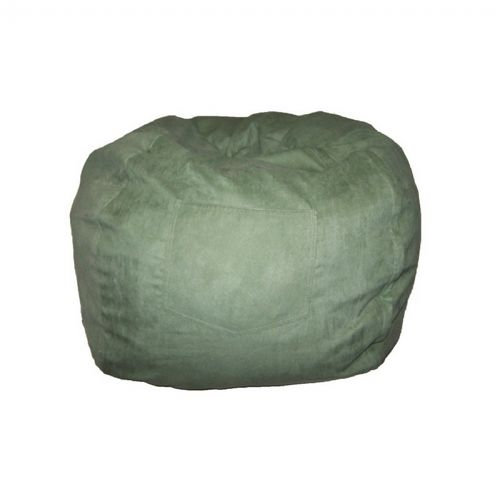 Fun Furnishings Green Micro Suede Small Beanbag FF-30233