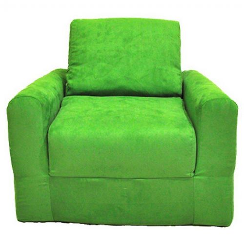 Fun Furnishings Lime Green Micro Suede Chair Sleeper FF-20205