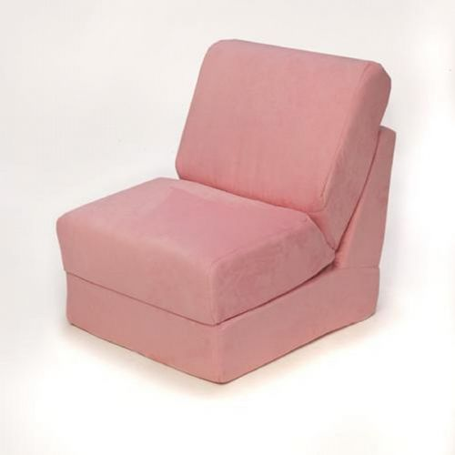 Fun Furnishings Pink Micro Suede Teen Chair FF-50230
