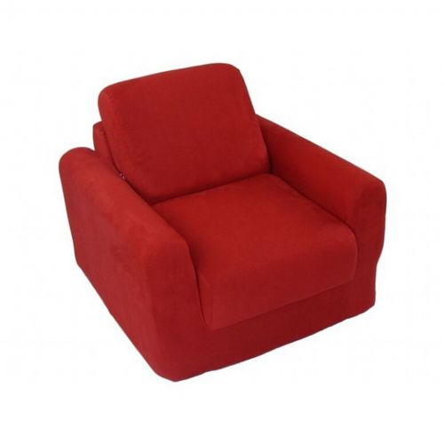 Fun Furnishings Red Micro Suede Chair Sleeper FF-20232