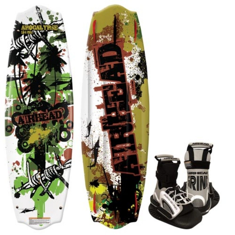 Wakeboard & Binding Sets: Airhead Apocalypse Wakeboard with Grind Binding