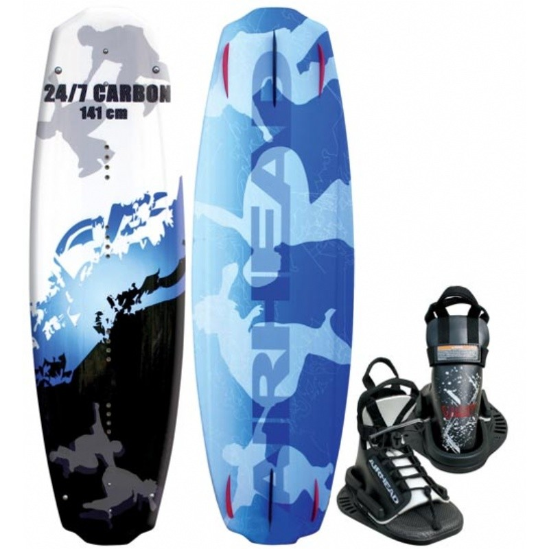 Wakeboard & Binding Sets: Airhead Carbon Wakeboard Set with VISE Binding