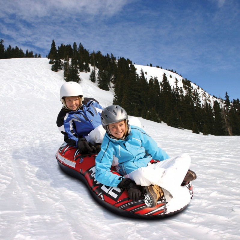 Snow Tubes and Sleds: Figure-8 Double Rider Inflatable Snow Tube