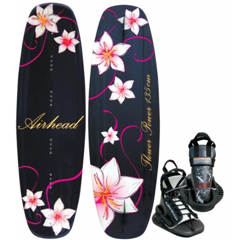 Wakeboard & Binding Sets: Airhead Flower Power Wakeboard with Vise Binding