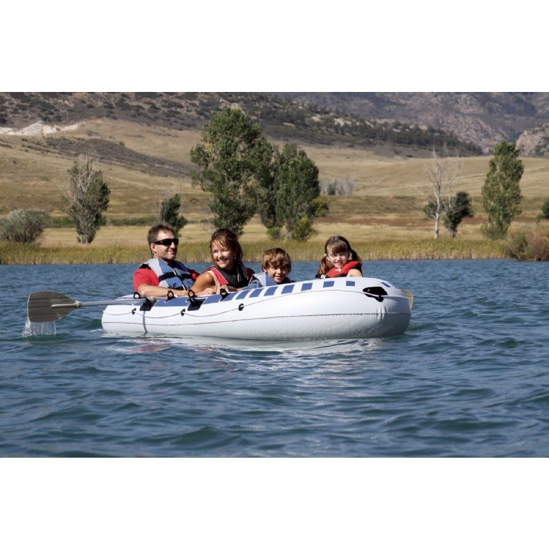 Inflatable Rocket Ship Toy: Airhead Four Person Inflatable Boat