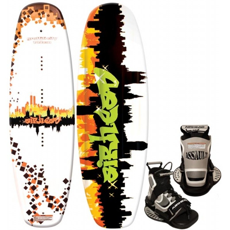 Wakeboard & Binding Sets: Airhead Grafitti City Wakeboard with Assault Binding