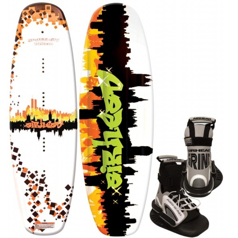 Wakeboard & Binding Sets: Airhead Grafitti City Wakeboard with Grind Binding