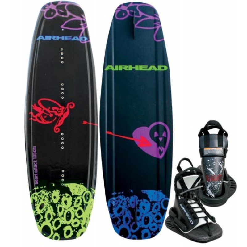 Wakeboard & Binding Sets: Airhead Heart Attack Wakeboard with Vise Binding