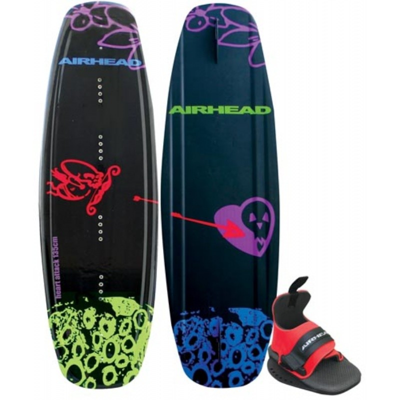 Wakeboard & Binding Sets: Airhead Heart Attack Wakeboard with Wrap Binding