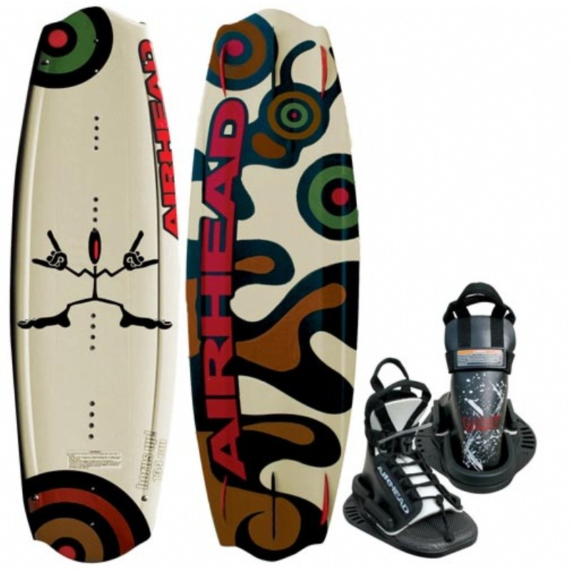 Wakeboard & Binding Sets: Airhead Horns Up w Vise Binding