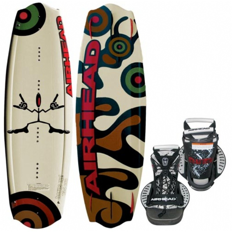 Wakeboard & Binding Sets: Airhead Horns Up Wakeboard with Clutch Binding