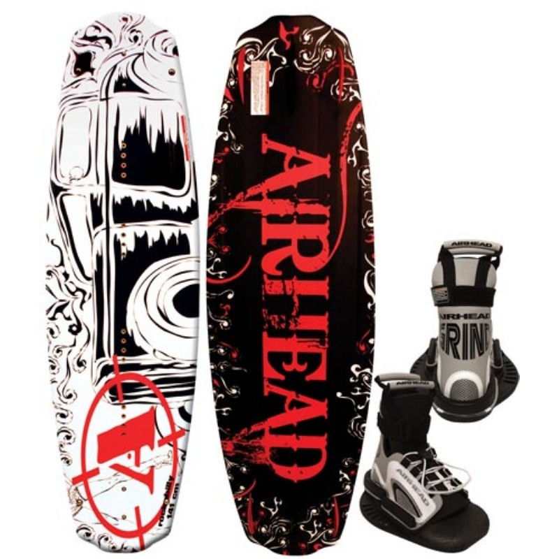 Wakeboard & Binding Sets: Airhead Rockabilly Wakeboard with Grind Binding