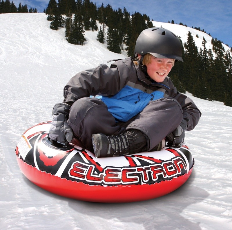Snow Tubes Single Rider: Single Rider Round Inflatable Snow Tube