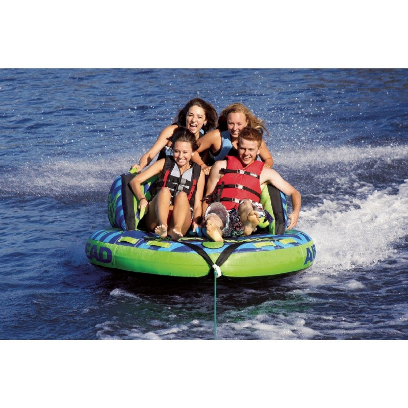 Airhead Switch Back Four Rider Towable Tube