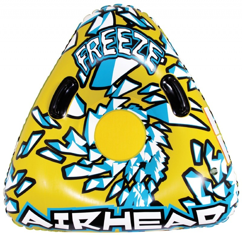 Sledding Tube: Triangle Single Rider Inflatable Snow Tube