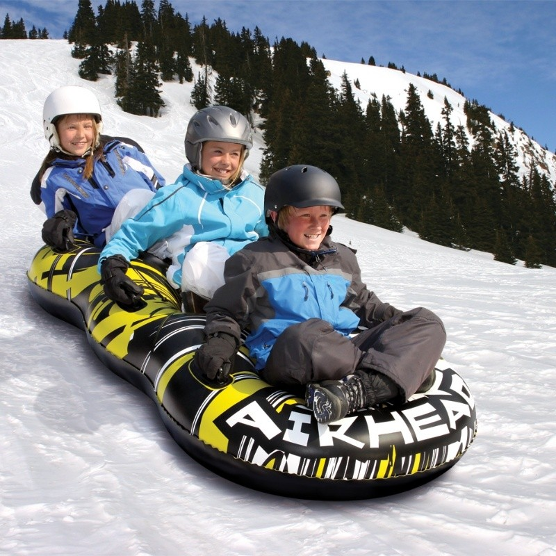 Sledding Tube: Triple Rider Inflatable Snow Tube