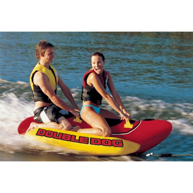 Three Seater Tube: Double Dog 2-Rider Towable Tube