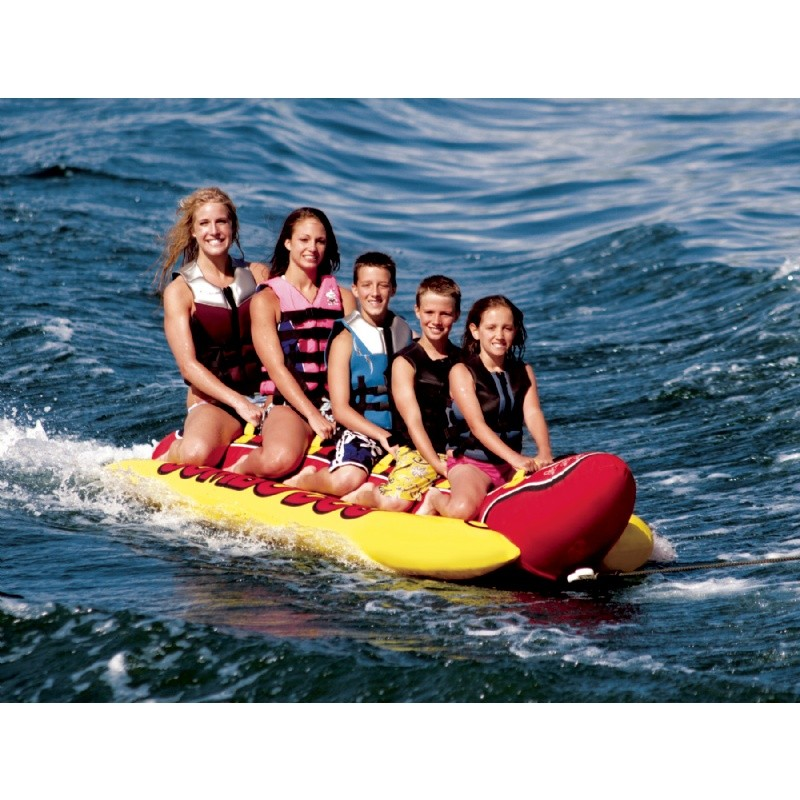 Pool & Beach: Towable Tubes: Jumbo Dog Five Rider Towable Tube