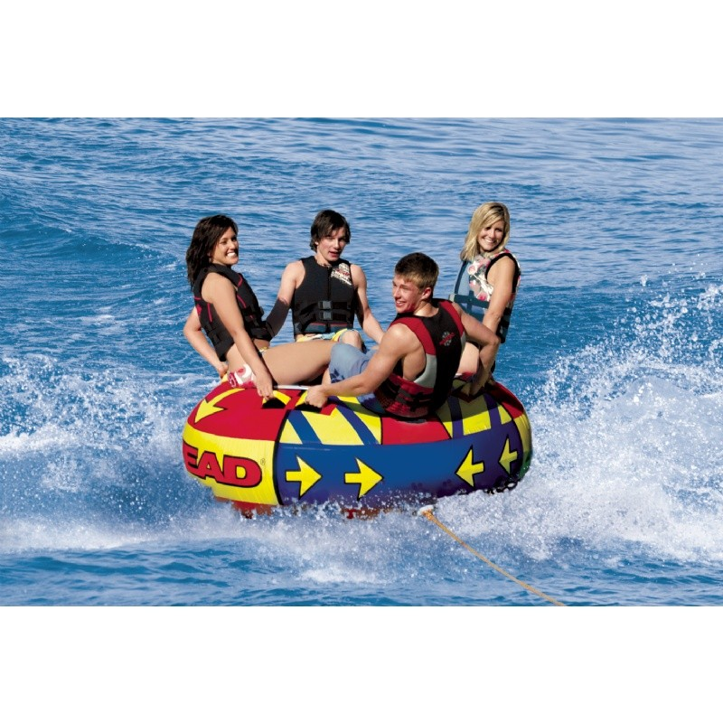 Mega Boost Four Rider Towable Tube : Towable Water Sports