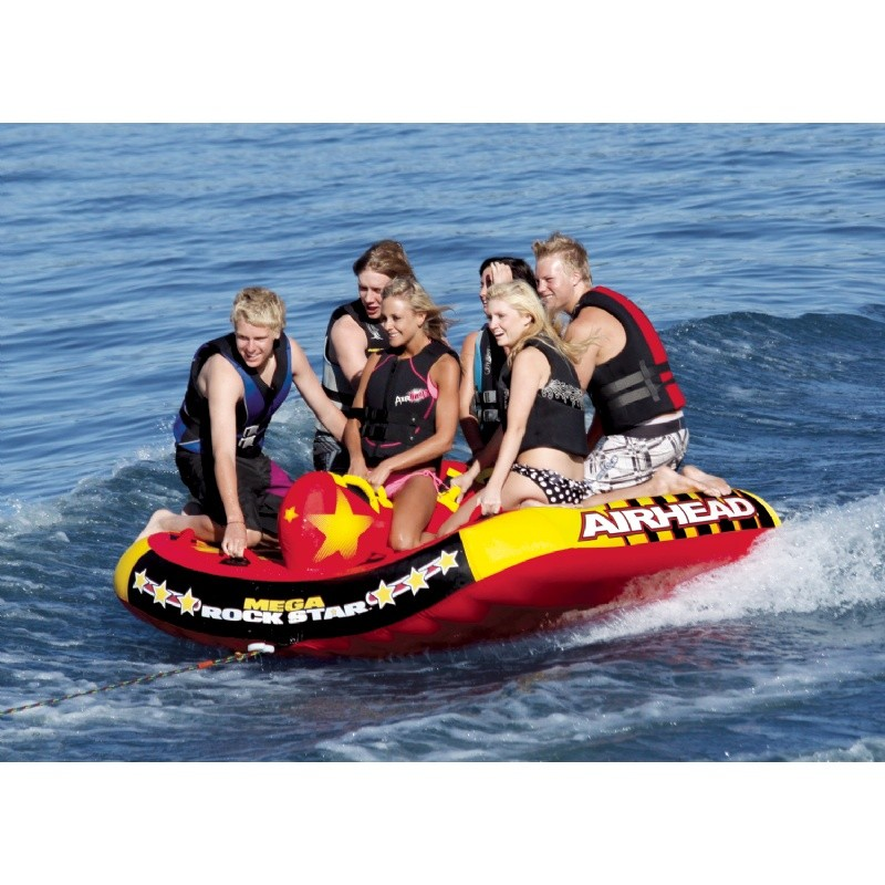 Mega Rockstar Six Rider Towable Tube : Towable Water Sports