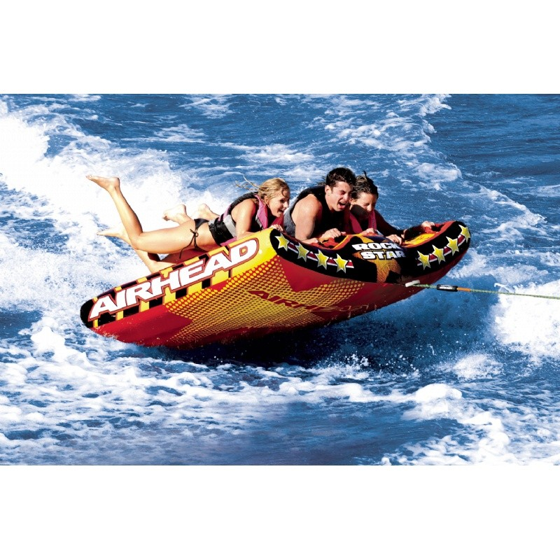 Water Sport Inflatables: Rockstar Three Rider Towable Tube
