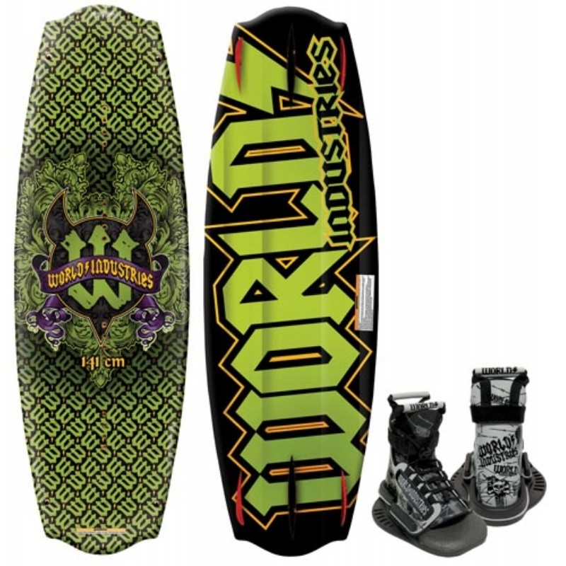 Wakeboard & Binding Sets: WI Devil's Crest Wakeboard with Mud Buddy Binding