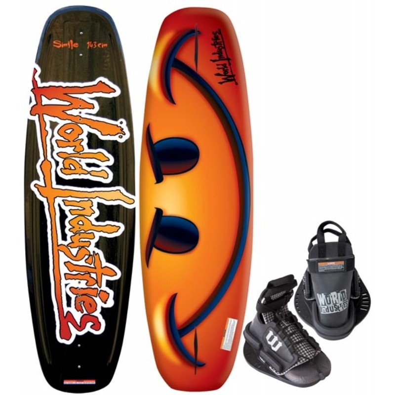 Wakeboard & Binding Sets: WI Smile Wakeboard with Faction Bindings