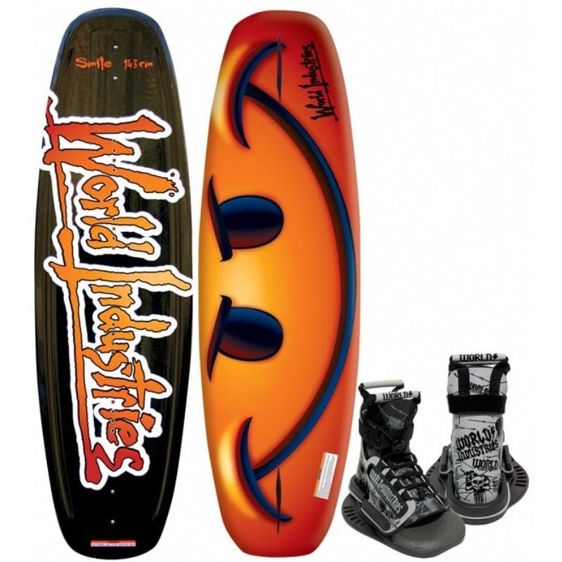 Wakeboard & Binding Sets: WI Smile Wakeboard with Mud Buddy Binding