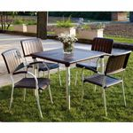 Musa Square Outdoor Dining Set 5 Piece Espresso NR-61050-SET5