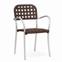 Aurora Outdoor Arm Chair with Espresso Seat NR-60250