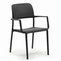 Bora Resin Outdoor Arm Chair Antracite NR-40242