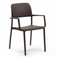 Bora Resin Outdoor Arm Chair Cafe Brown NR-40242