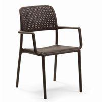Bora Resin Outdoor Arm Chair Cafe Brown NR-40242