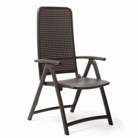 Darsena Outdoor Folding Chair in Caffe NR-40316
