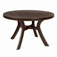 Toscana Round Dining Table 47 inch Brown NR-40123