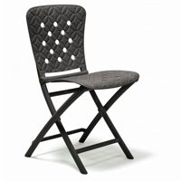 Zac Spring Resin Folding Dining Chair Anthracite NR-40325