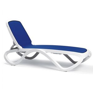 Adjustable Omega Sling Chaise Lounge - White Blue NR-40417