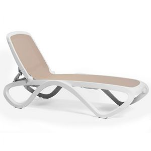 Adjustable Omega Sling Chaise Lounge - White Sand NR-40417