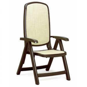Delta Adjustable Folding Sling Chair Brown Beige NR-40310-05-115