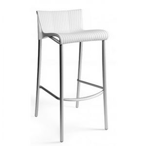 Duca Outdoor Bar Chair White NR-75254