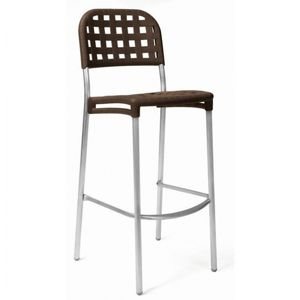 Globo Outdoor Bar Stool Espresso Seat NR-75454